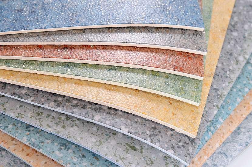 Barevné druhy linoleové podlahy