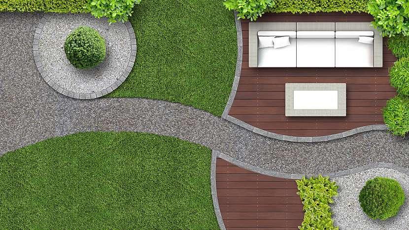 Moderní design zahrad je jako podle pravítka