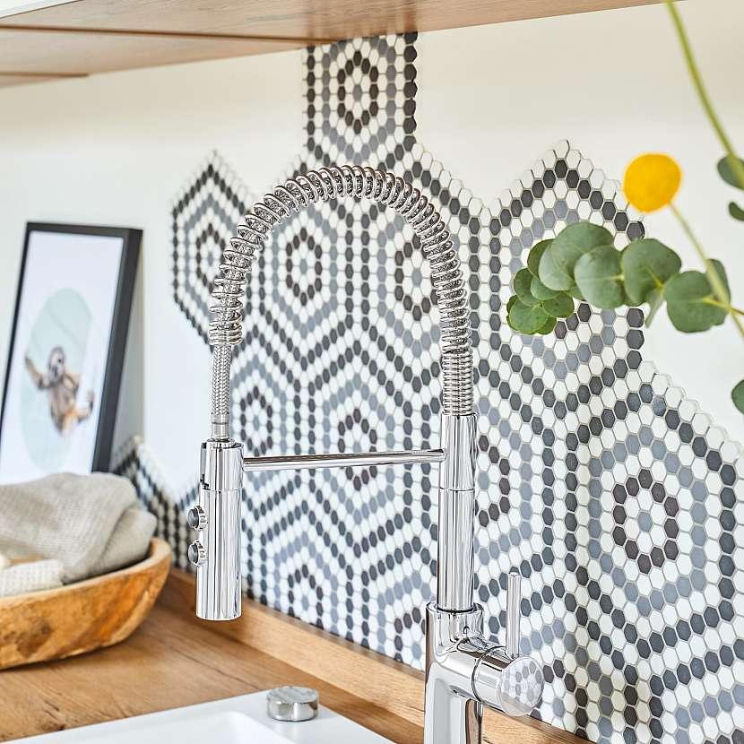 Kuchyň, mozaika