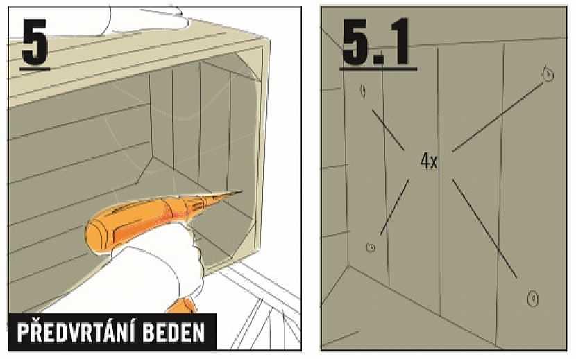 sešroubování nábytku z beden