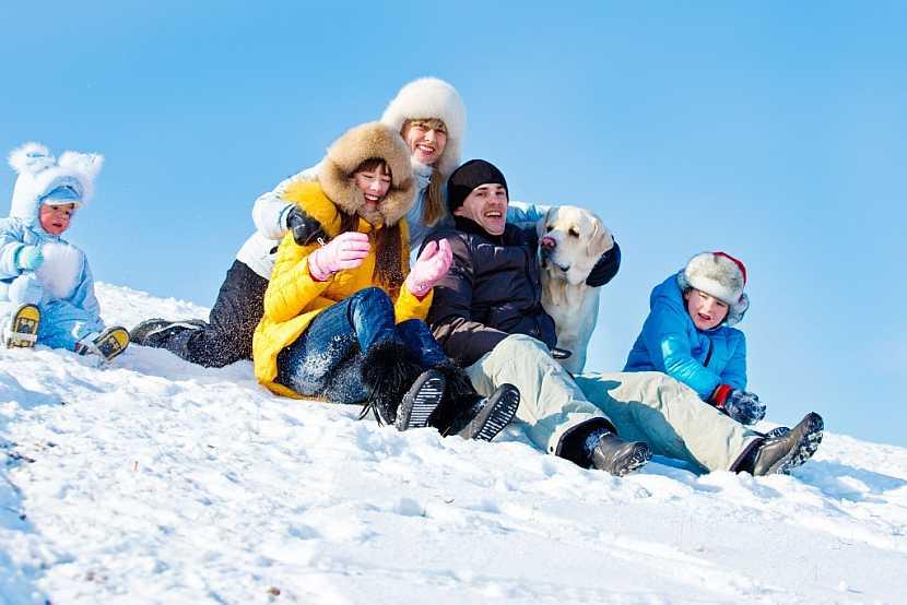 Rodina na sněhu