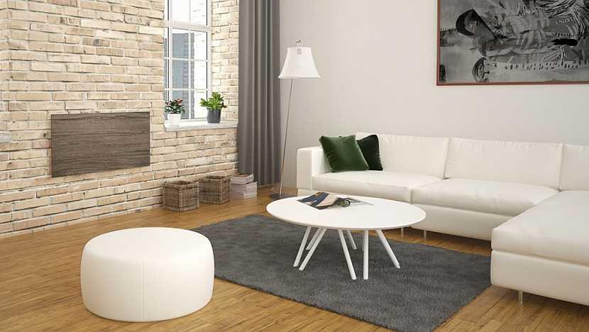 Sálavé panely ECOSUN NATURAL v dokonalé imitaci kamene představují dokonalé designové řešení vytápění.