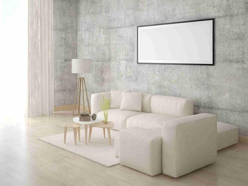 K dekorativní barevné stěně se hodí jednoduché linie bílého nábytku