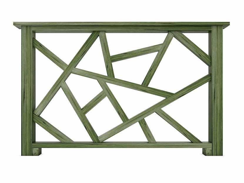Dřevěné balkonové zábradlí snese jakoukoliv barvu na dřevo