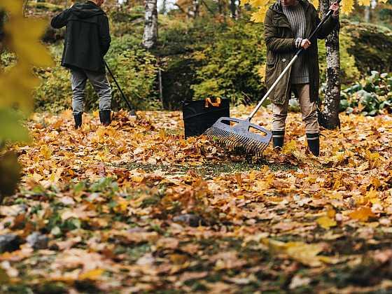 Úklid listí – podzimní evergreen (Zdroj: Fiskars)