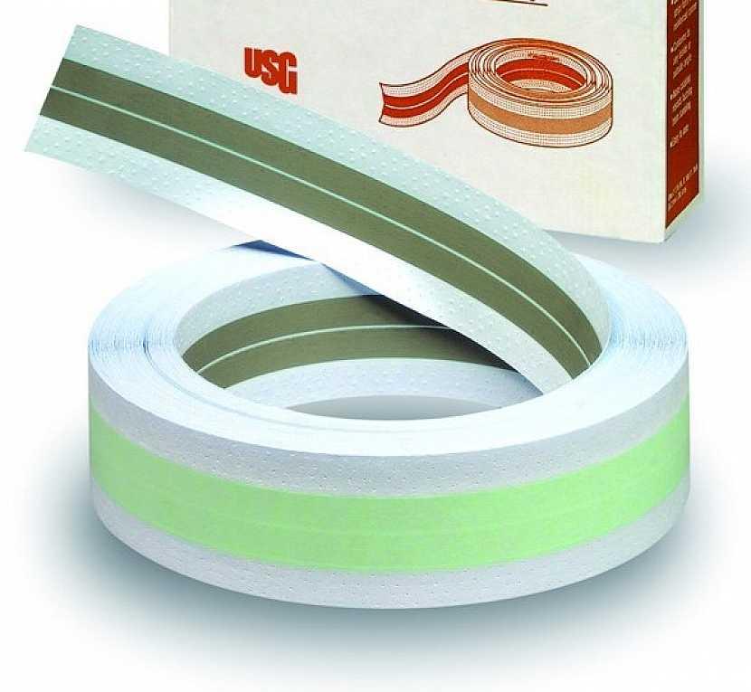 Flexible Metal Tape - papírový profil s ocelovou výztuhou. Pro snadno formovatelné vnitřní a vnější rohy v libovolném úhlu bez prasklin.