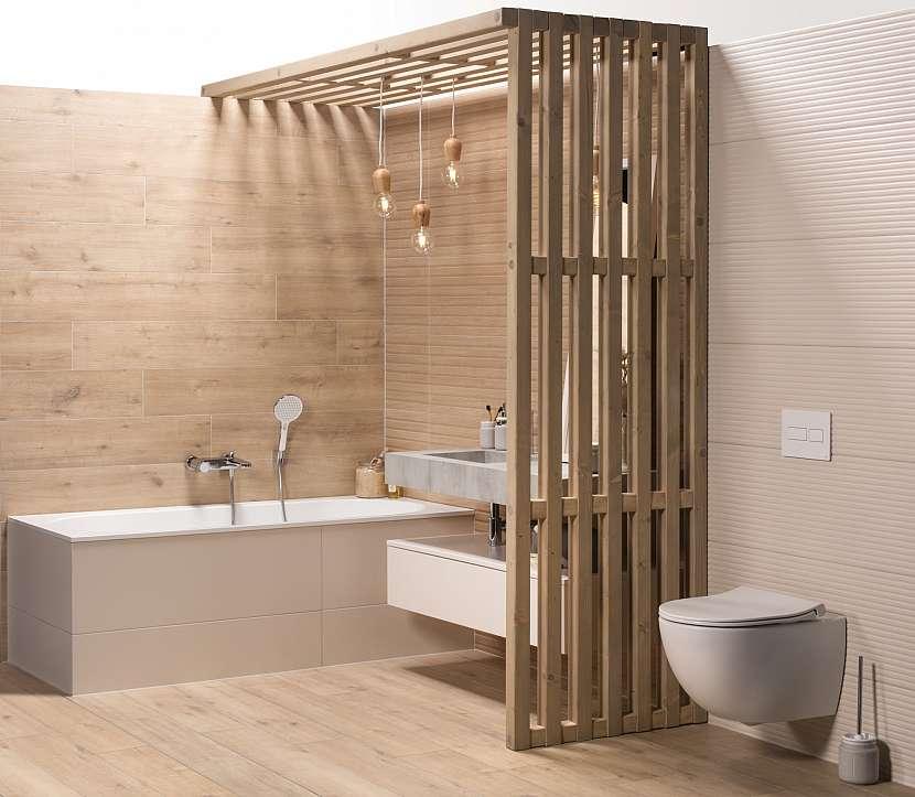 Dřevěná koupelna vana