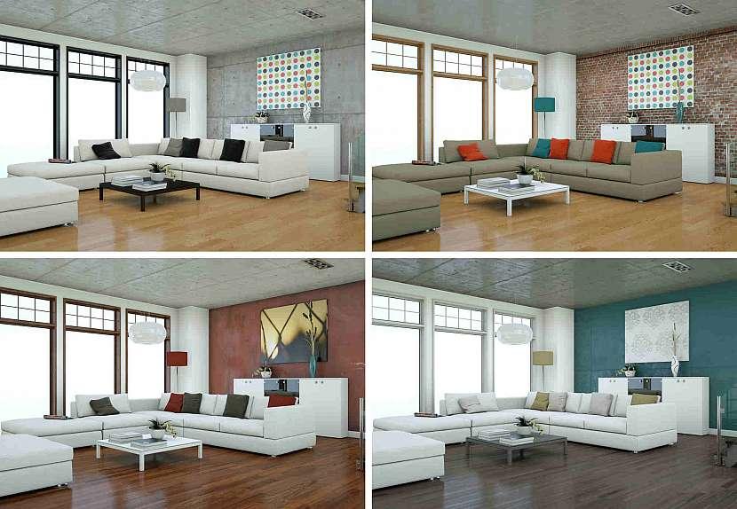 Různé varianty vzhledu pokoje
