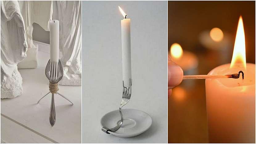 Svícny z vidliček