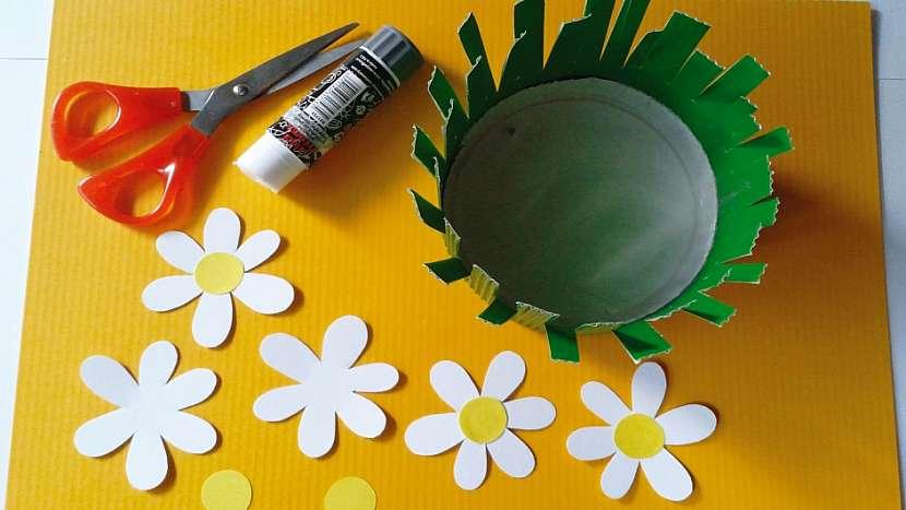 Jarní košíček: vytvořte kytičky