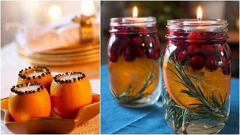 Vánoce svůní pomerančů: aromatické svíčky