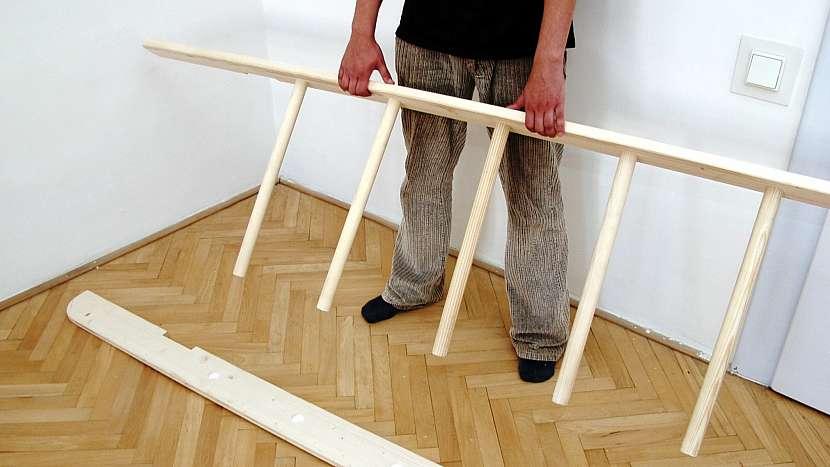 Patro na spaní: místo schodů vyrobíme ribstol