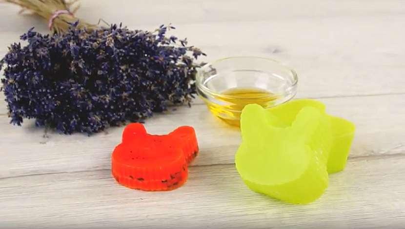 Domácí mýdlo s levandulovou vůní 1