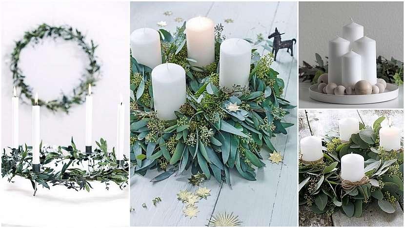 Vánoce ve znamení minimalismu: vánoční svícny