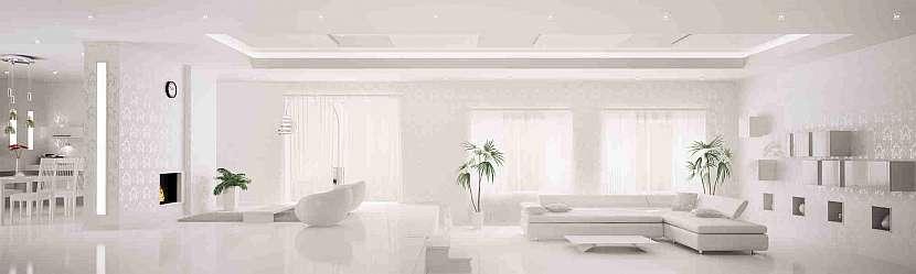 Obývací pokoj v bílé barvě