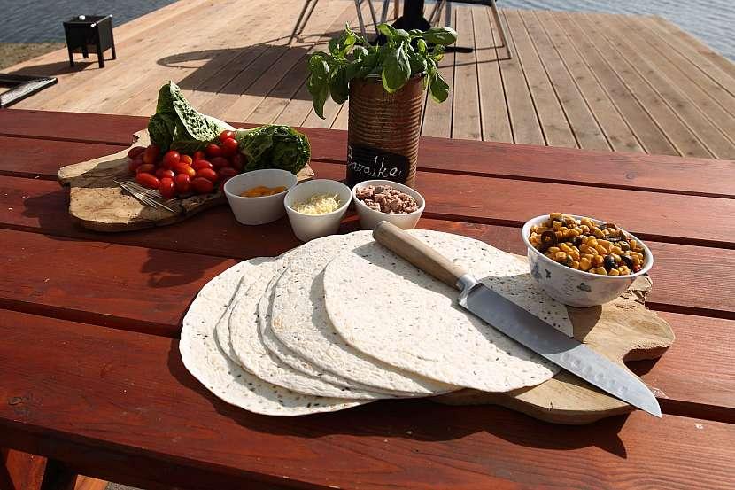 Tortilla na stole