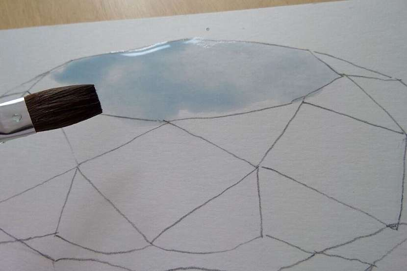 Jak vykouzlit diamant na papír: Namalujte si diamant akvarelem! 4