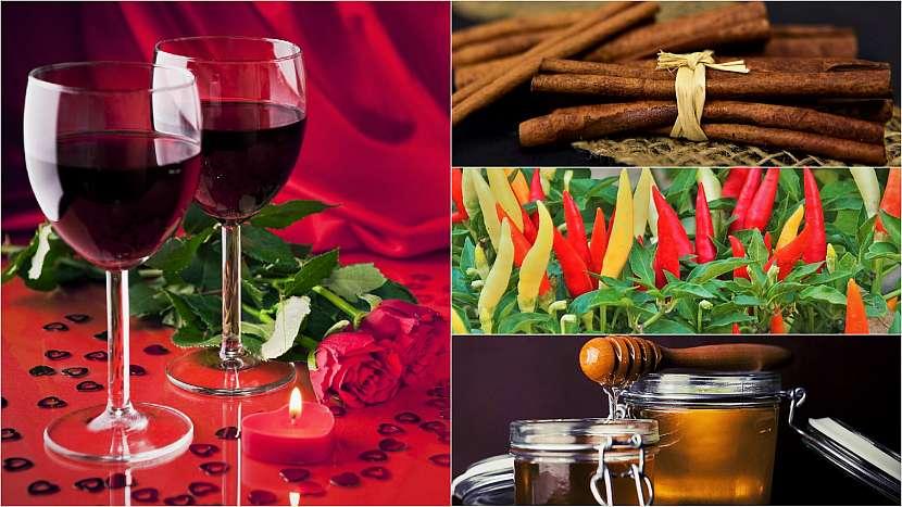Domácí afrodiziakum: červené víno se skořicí, chilli papričkou a medem