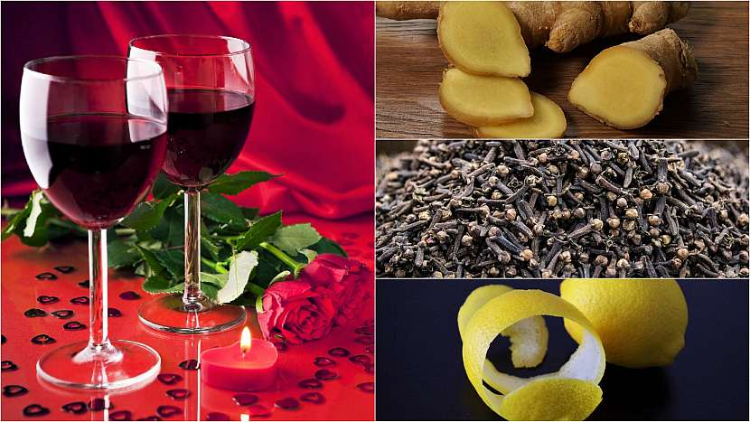 Domácí afrodiziakum: červené víno s hřebíčkem, zázvorem a citronem