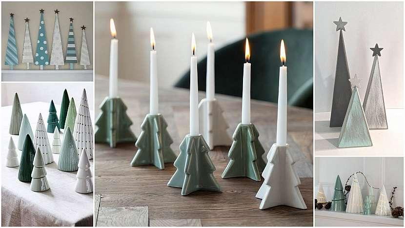 Vánoce ve znamení minimalismu: jednoduché stromky