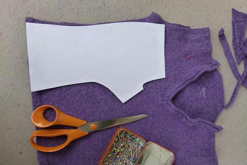 Návleky na rukavice ze starého svetru 3
