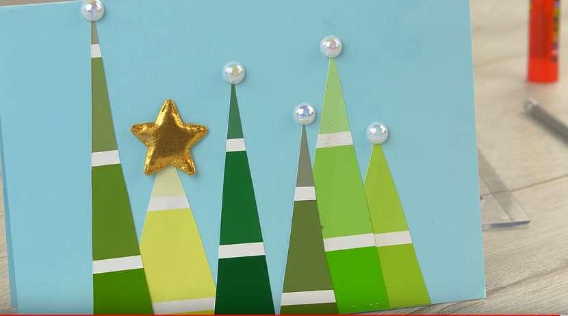 Vánoční přání se stromečky 6