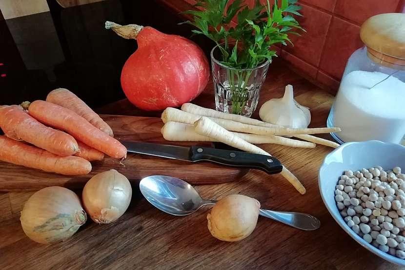 Krémová polévka z dýně Hokkaido: Co budete potřebovat