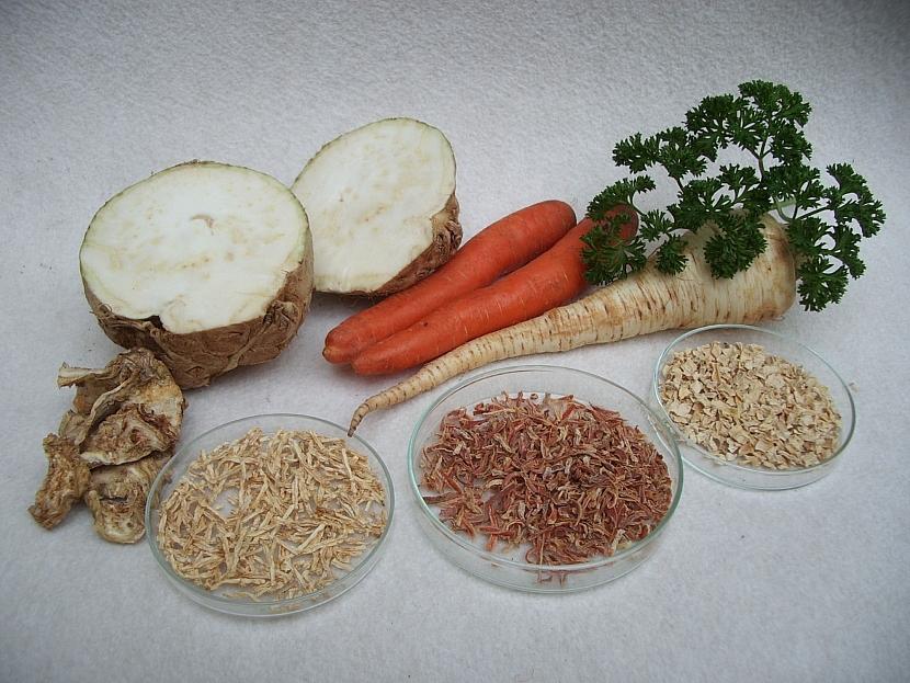 Sušená kořenová zelenina