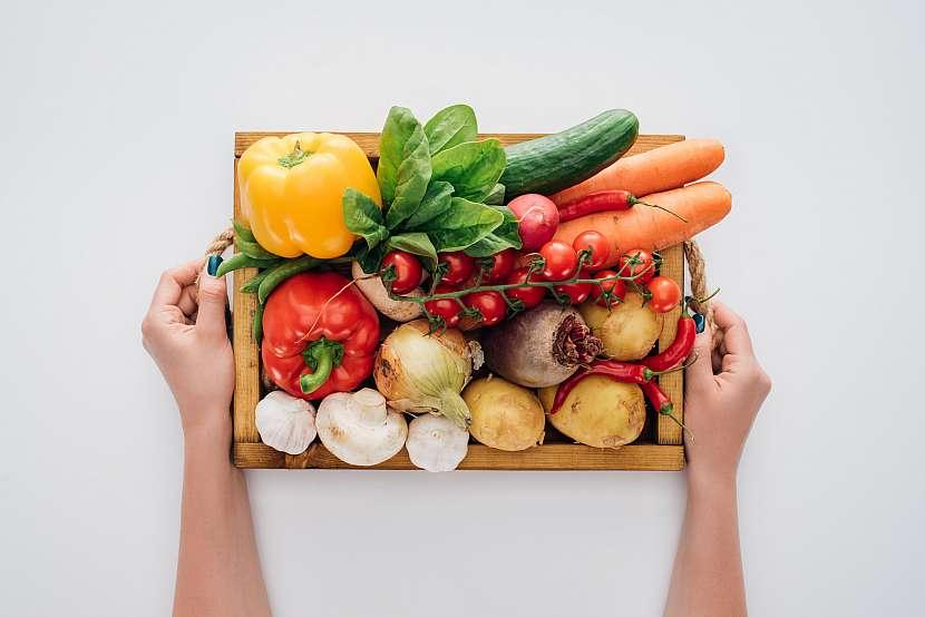 Zelenina v bedýnce
