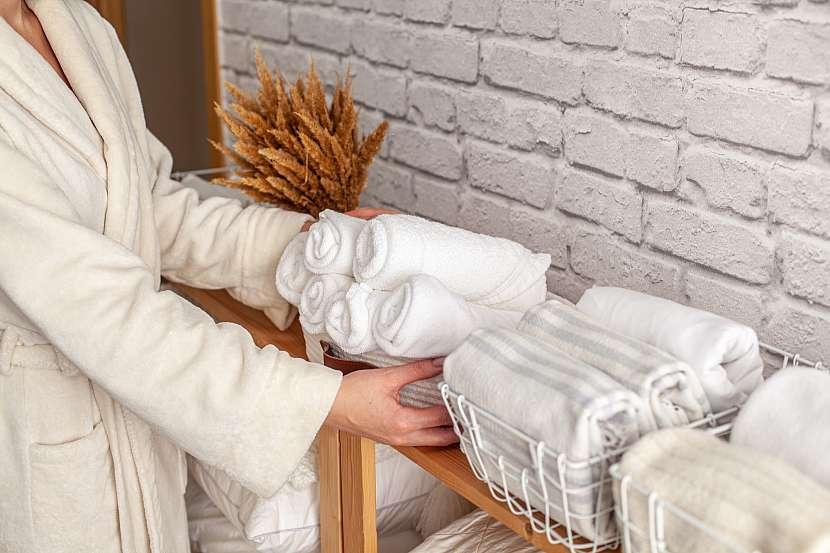 Poskládané ručníky