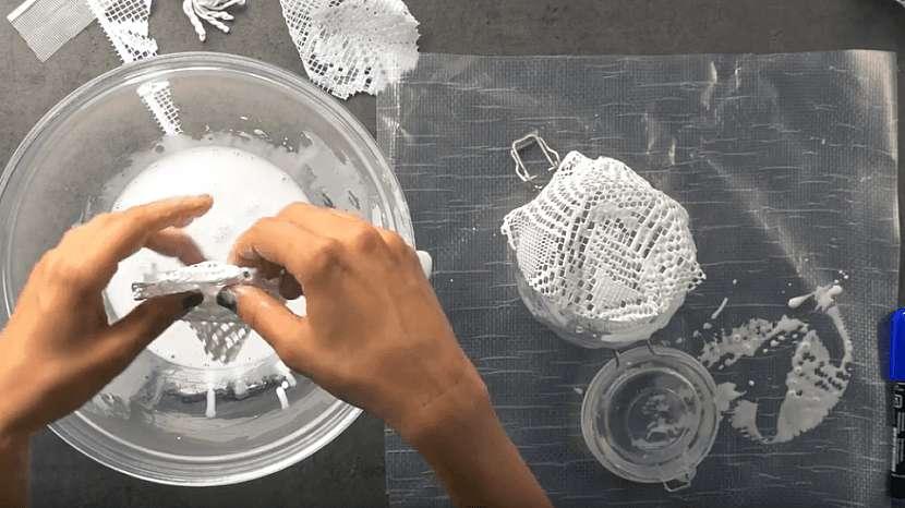 Miska z krajky: vytvořte misku