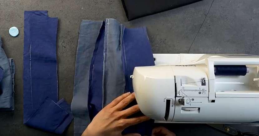 Povlak na dekorační polštářek: pruhy sešijte