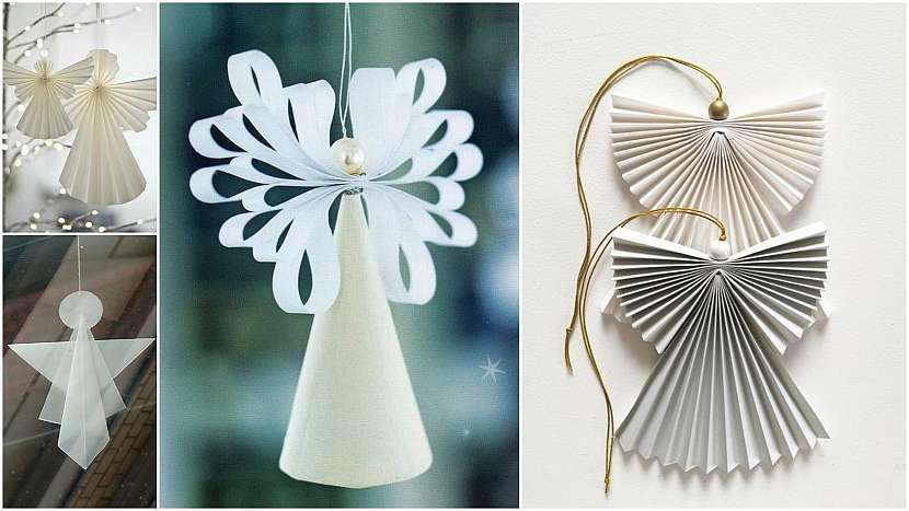 Vánoce ve znamení minimalismu: papíroví andílci