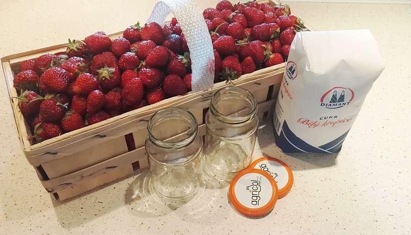 Jahody na výrobu džemu