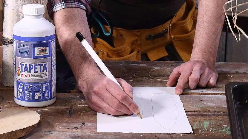 DIY dřevěný zajíc: nakreslíme a vystřihnemezaječí uši