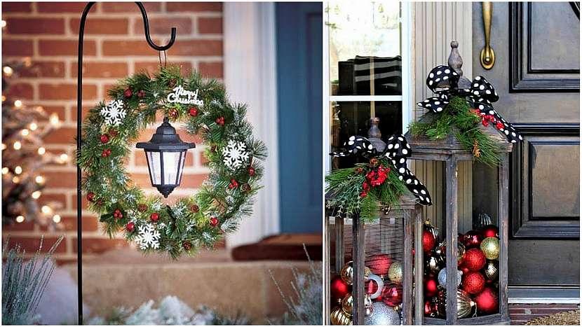 Vánoce přede dveřmi: lucerny zářící i nazdobené