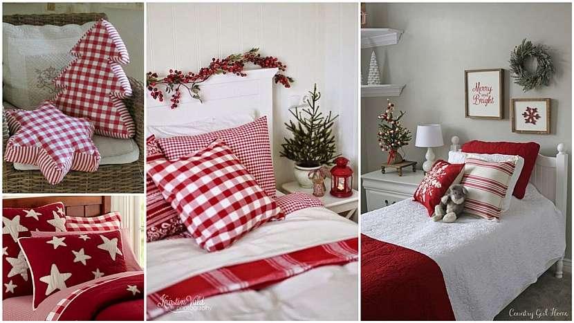 Vánoce podle tradice: vánoční odpočinek v ložnici