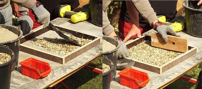postup výroby dlažby