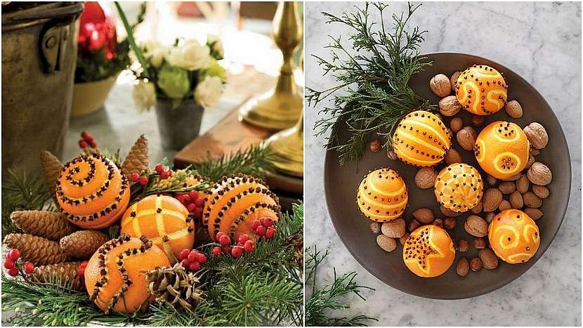 Vánoce svůní pomerančů: vyřezávané pomeranče
