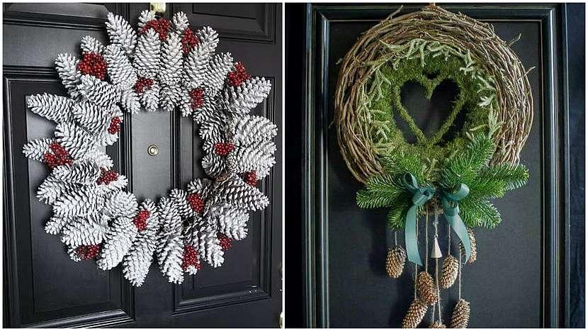 Vánoce přede dveřmi: věnce na dveře