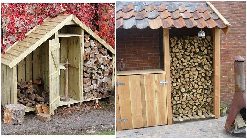 Dřevo do kamen: víceúčelový domek