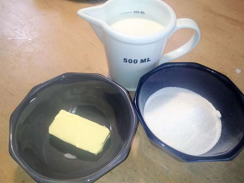 Suroviny na kondenzované mléko