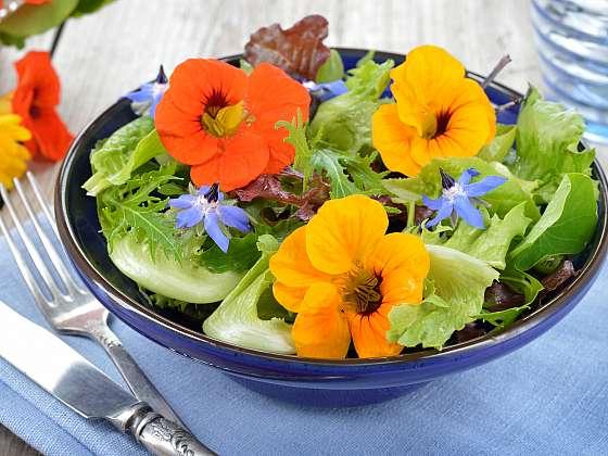 Jedlé rostliny oživí každý salát (Zdroj: Depositphotos)