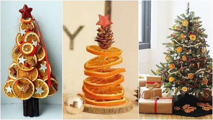 Vánoce svůní pomerančů: stromečky i na stromeček