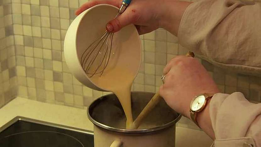Vaření pudinku