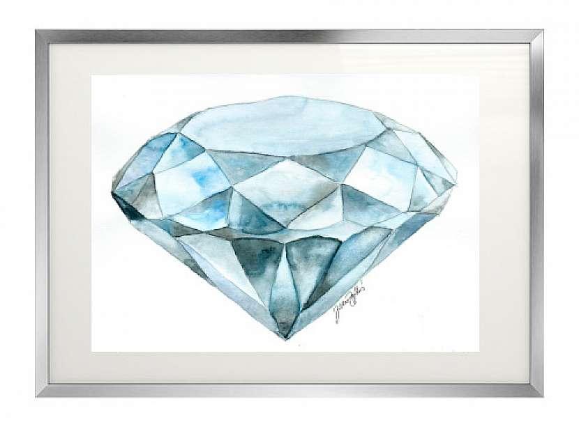 Jak vykouzlit diamant na papír: Namalujte si diamant akvarelem! 8