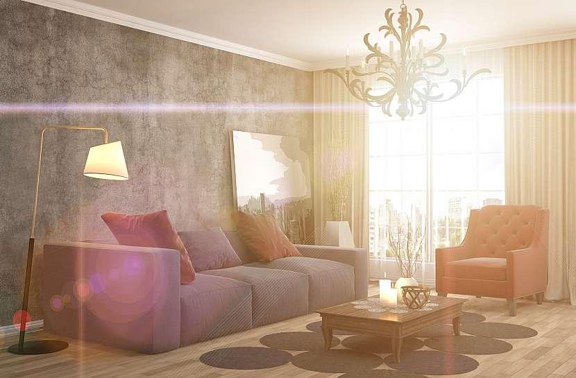 Luxusně zařízený obývací pokoj-1