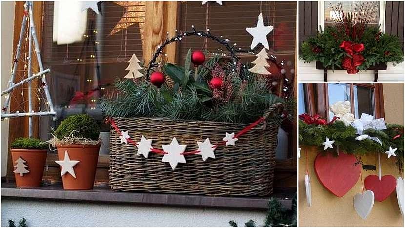 Vánoce přede dveřmi: nazdobená okna