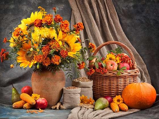 Připravte si dekorace v podobě podzimního truhlíku (Zdroj: Depositphotos (https://cz.depositphotos.com))