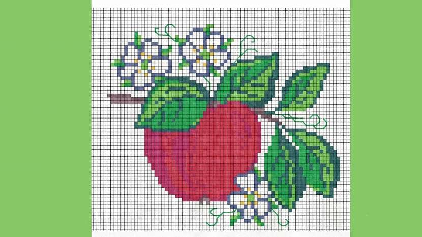 Vyšívané jablíčko: Kouzelná podzimní dekorace na stěnu 4